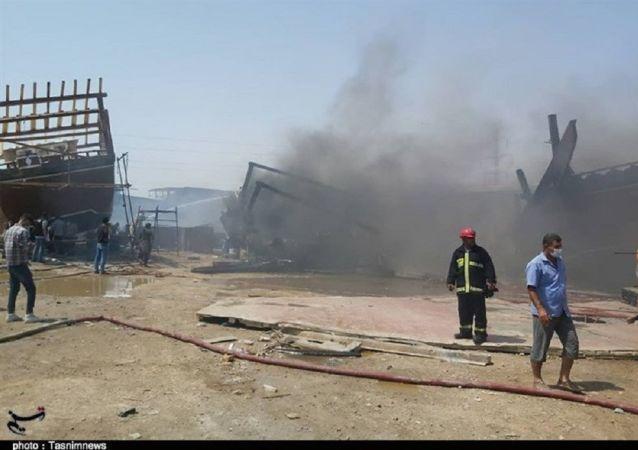 جزئیات آتشسوزی در کارخانه لنجسازی بوشهر