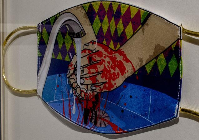برگزاری نمایشگاه  ماسک بزن با اشاره به پاندمی کرونا در تهران