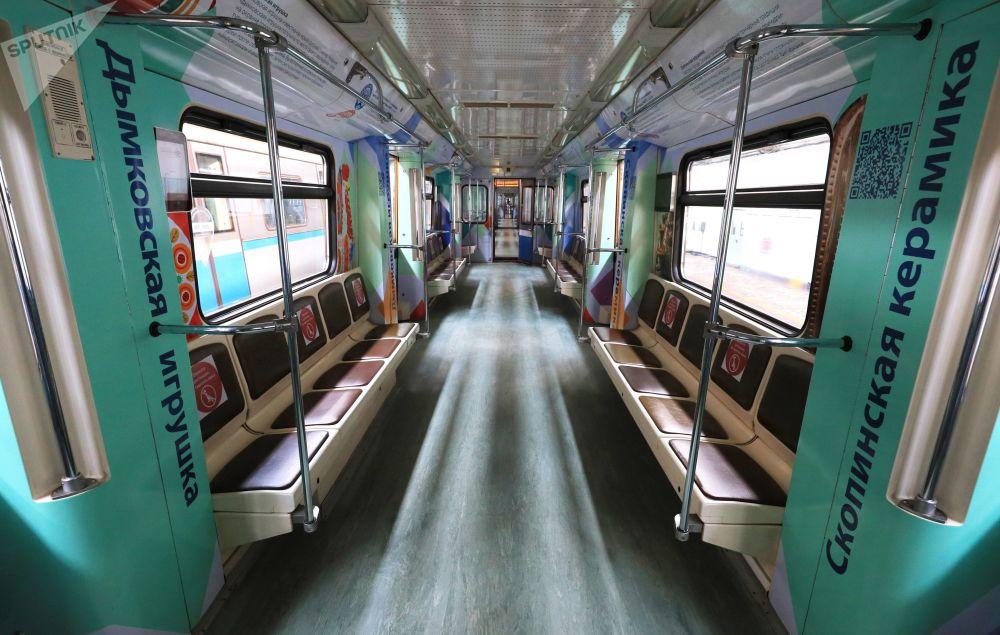 راه اندازی قطار ویژه هنرهای تجسمی روسیه در مترو مسکو