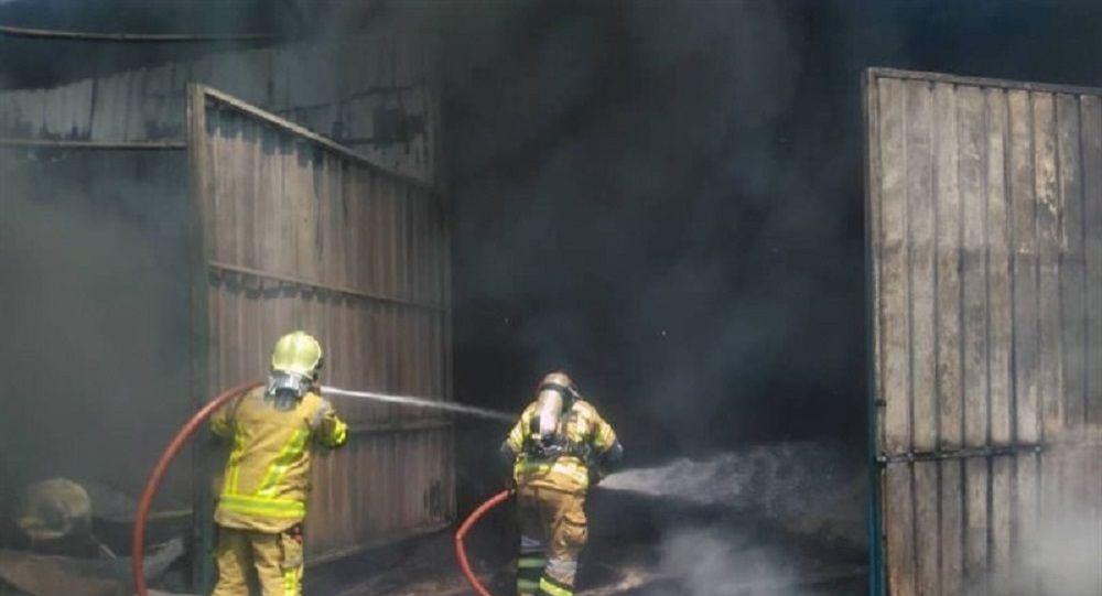 وقوع آتش سوزی در یکی از مراکز تحقیقاتی سپاه در غرب تهران