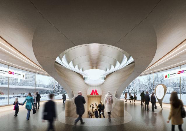 پروژه ایستگاه مترو «کلنویی بولوار» در مسکو از معمار برجسته زها حدید