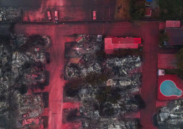 آتشسوزی در «اورگن» آمریکا