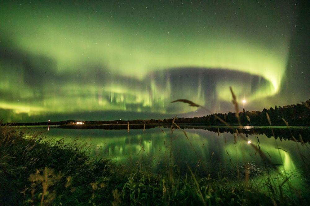 شفق شمالی در آسمان فنلاند