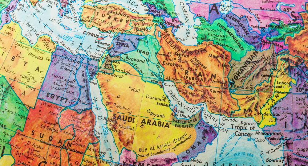 نقشه جغرافیایی  خاورمیانه