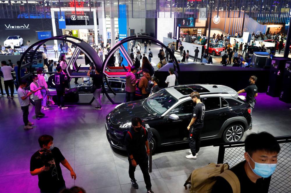 نمایشگاه بینالمللی خودرو در پکن غرفه لینک و کمپانی