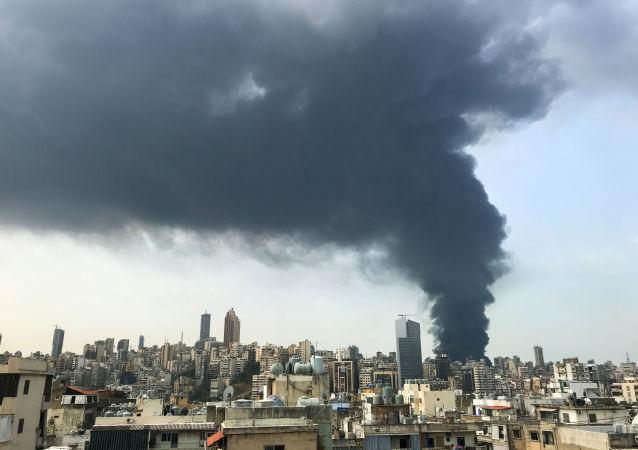 انفجار مخزن مازوت در بیروت