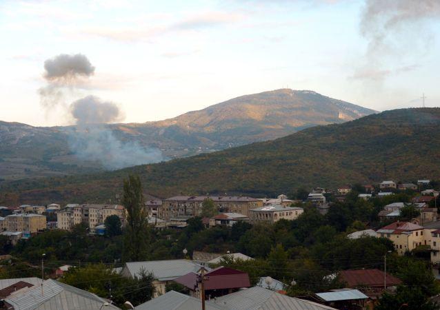 اصابت 10 راکت جنگ قره باغ به روستای مرزی در ایران