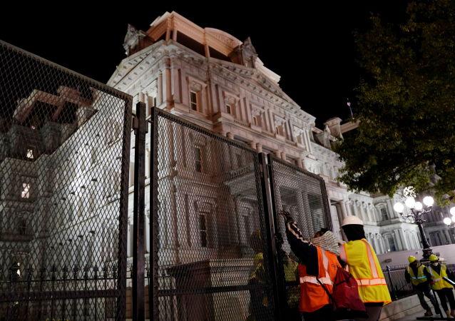 کاخ سفید تحت محافظت شدید در روز انتخابات ریاست جمهوری