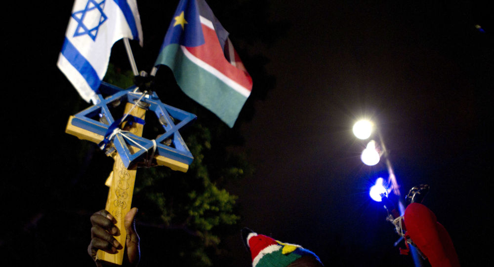 پرچم اسرائیل و سودان
