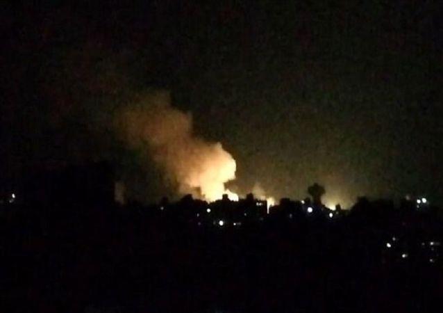 دفع حمله موشکی اسرائیل توسط پدافند هوایی سوریه