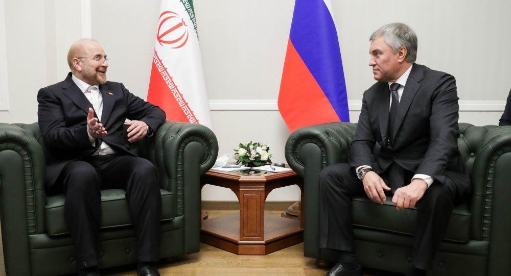 ویاچسلاو والودین و قالیباف در مسکو