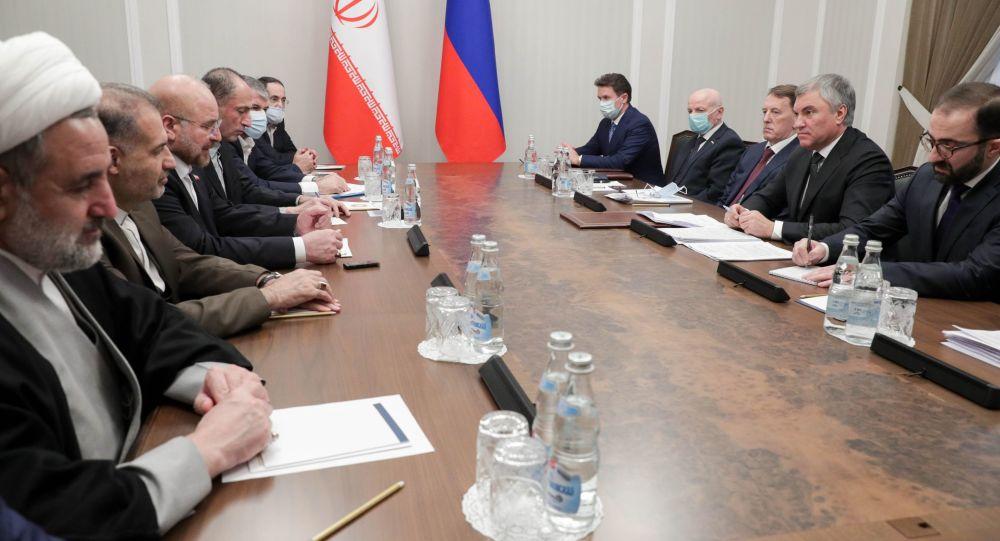 دیدار قالیباف و والودین در مسکو