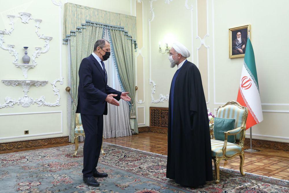 سفر سرگی لاوروف وزیر امور خارجه روسیه به تهران دیدار با رئیس جمهور ایران