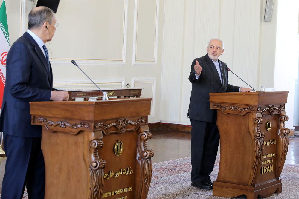سفر سرگی لاوروف وزیر امور خارجه روسیه به تهران دیدار با وزیر خارجه ایران