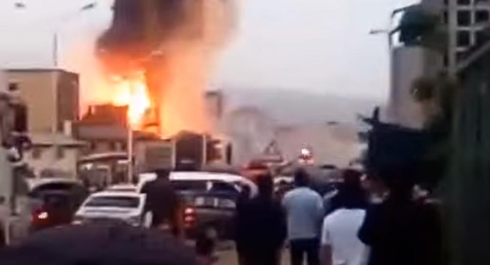 انفجار قوی در جایگاه سوخت در شهر دوشنبه + فیلم