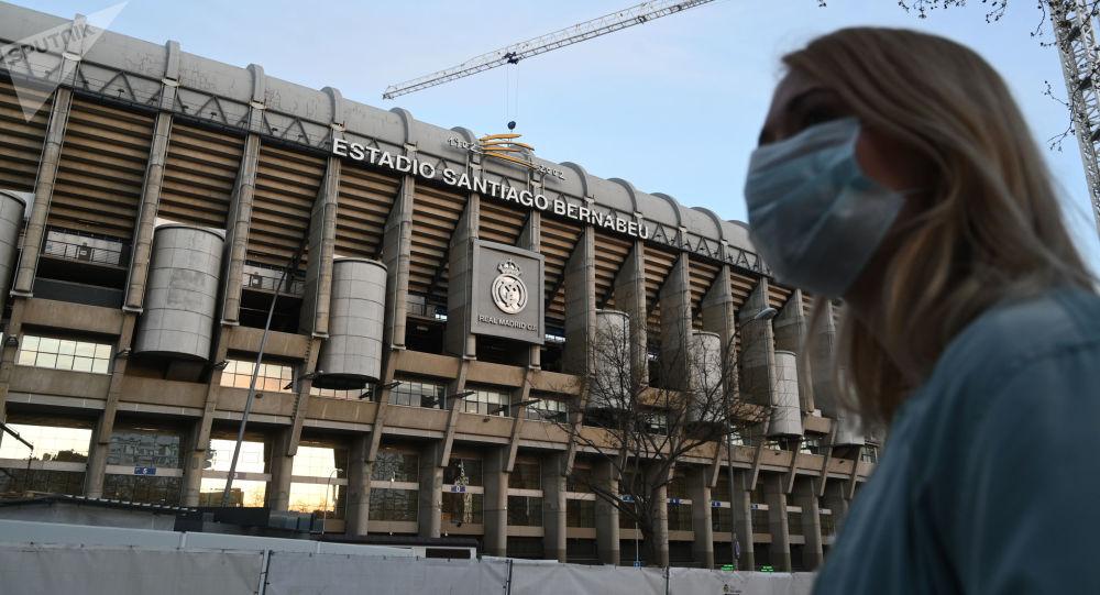 آتش سوزی در استادیوم رئال مادرید + ویدئو