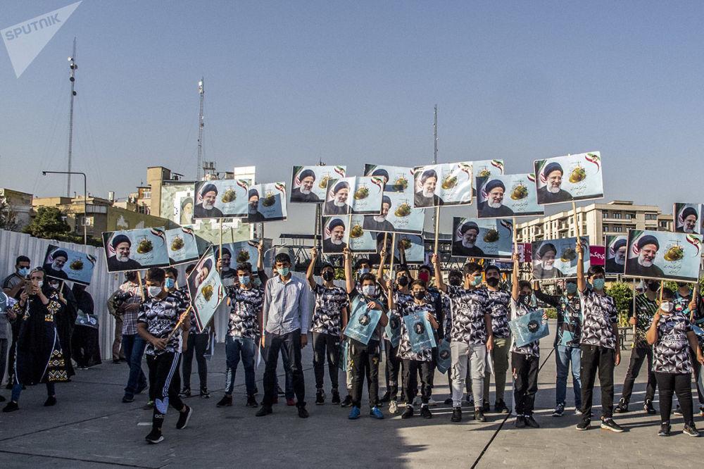 تجمع در حمایت از ابراهیم رئیسی نامزد انتخابات ریاست جمهوری در تهران