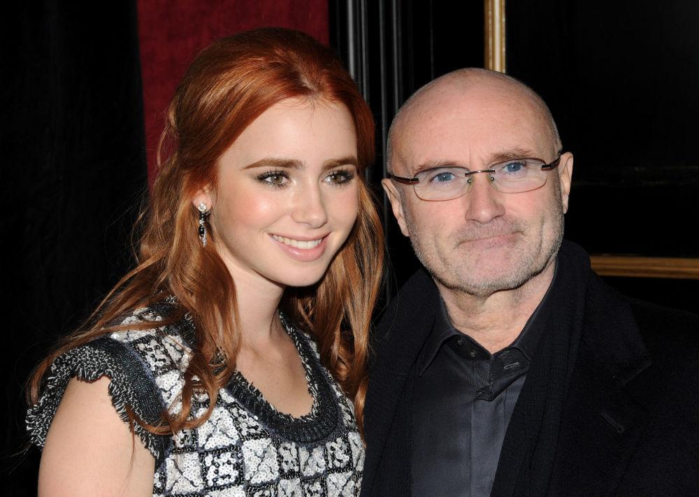 هنرپیشه لیلی کالینز و پدرش
