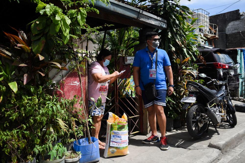 جوایز واکسن زدن در کشورهای جهان اهدای کیسه برنج در فیلیپین