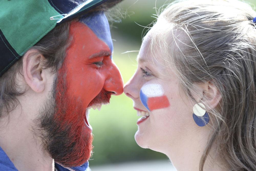 طرفداران تیم فوتبال چک در مسابقات یورو ۲۰۲۰