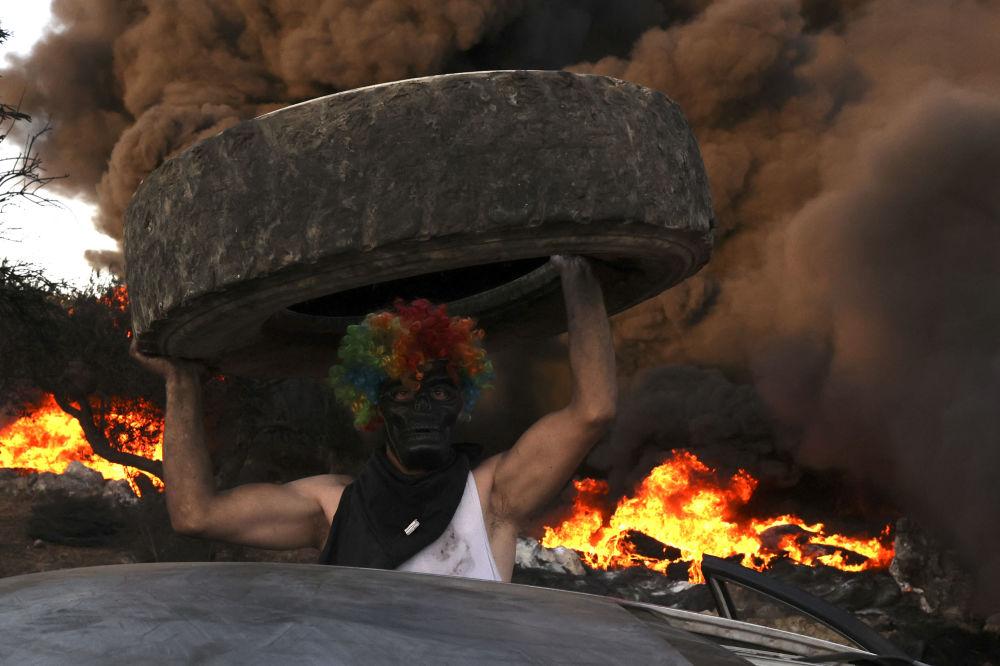 رویدادهای هفته به روایت تصویر  مبارزه فلسطینی ها