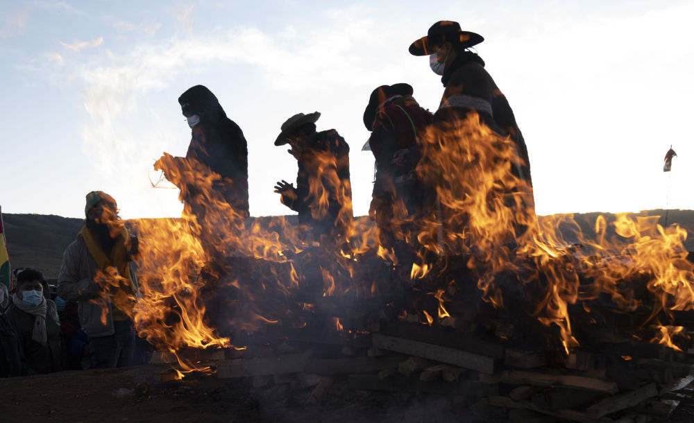 رویدادهای هفته به روایت تصویر  مراسم سال نو در بولیوی