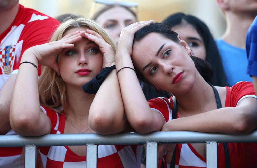 طرفداران تیم کرواسی در یک هشتم فینال یورو ۲۰۲۰