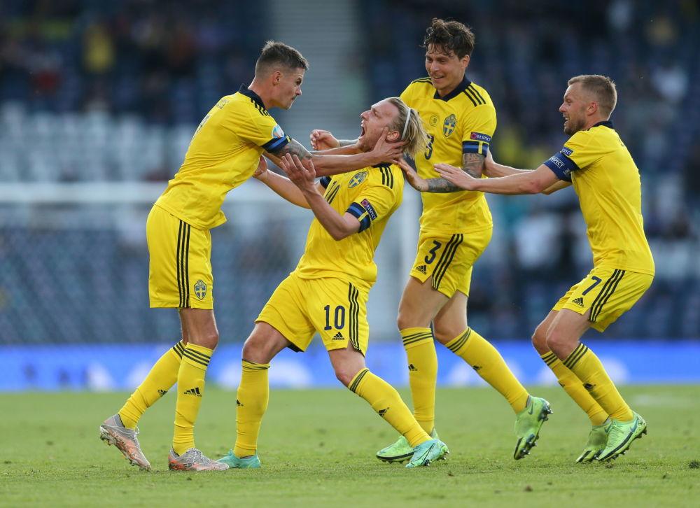 بازیکنان تیم سوئد در یک هشتم فینال یورو ۲۰۲۰