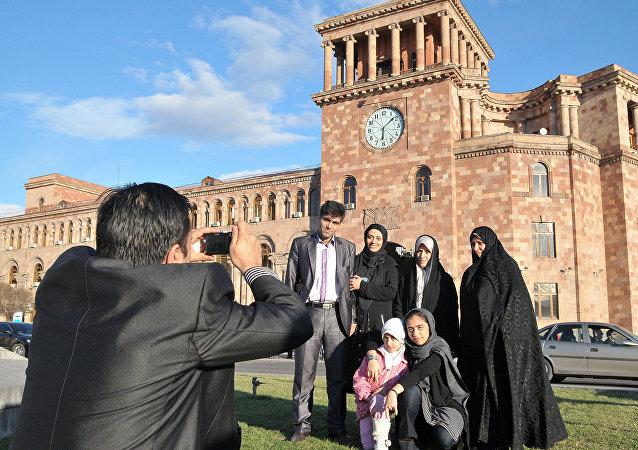 توریست های ایرانی در ارمنستان (تصویر آرشیوی)