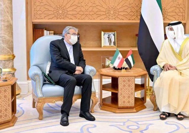 دیدار معاون نخست وزیر امارات با کاردار ایران در ابوظبی