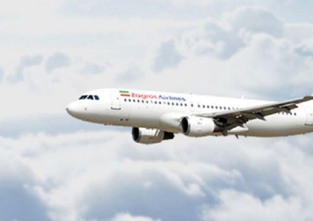 هواپیمای شرکت مسافربری زاگرس