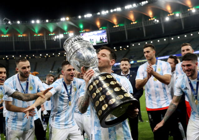 لئونل مسی فوتبالیست آرژانتینی پس از برد مقابل برزیل