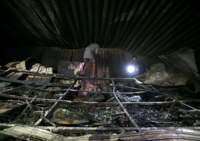 آتش سوزی بیمارستان ذیقار عراق
