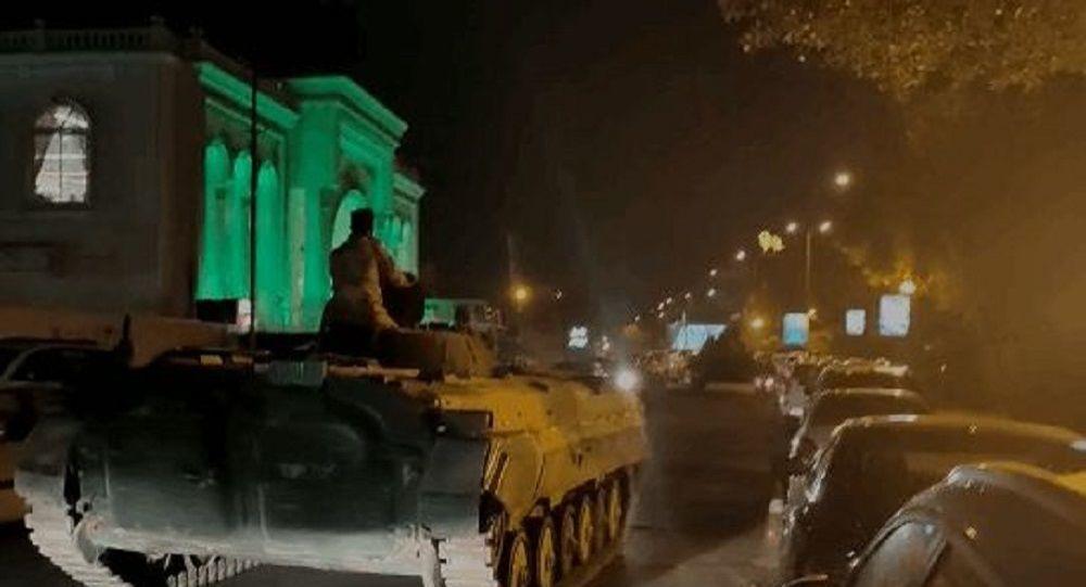 استقرار تانک های ارتش و نیروهای امنیتی در پایتخت عراق