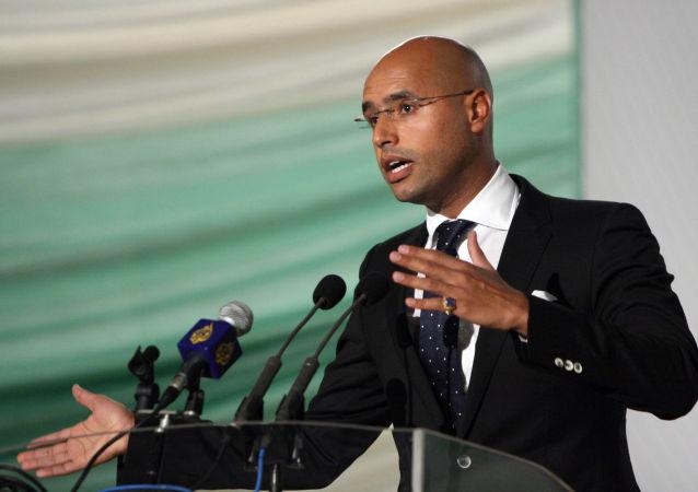 پسر قذافی گفت که می خواهد یکپارچگی لیبی را بازگرداند