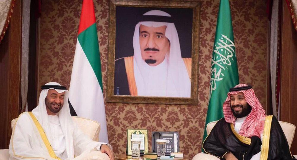 محمد بن زاید ولیعهد امارات و محمد بن سلمان ولیعهد عربستان سعودی