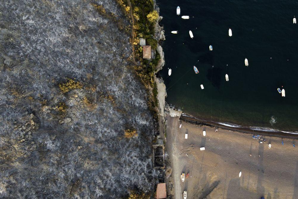 رویدادهای هفته به روایت تصویر کوه سوخته در یونان