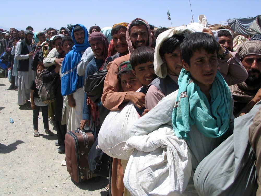 در پاسگاه دروازه دوستی در شهر چمن، مرز پاکستان و افغانستان