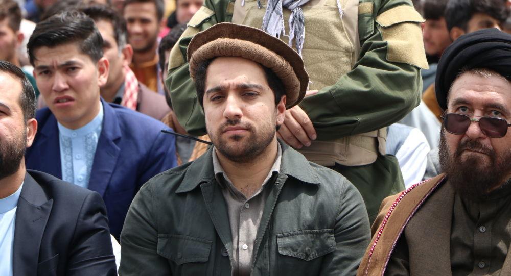 احمد مسعود در مراسم تجلیل از هشتم ثور در کابل