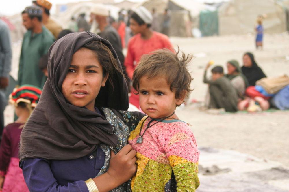 افغان ها در اردوگاه پناهجویان در شهر مرزی چمن در پاکستان