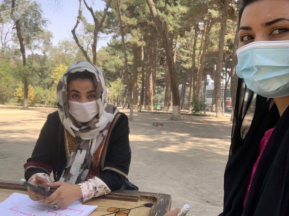 تظاهرات برای حفظ حقوق زنان در کابل