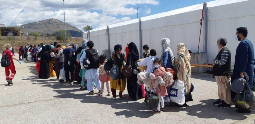 اردوگاه برای پناهندگان افغانستانی در شهر ایتالیایی اوتسانو