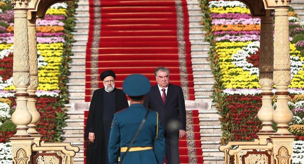 استقبال رسمی رئیس جمهور تاجیکستان از رئیس دولت ایران