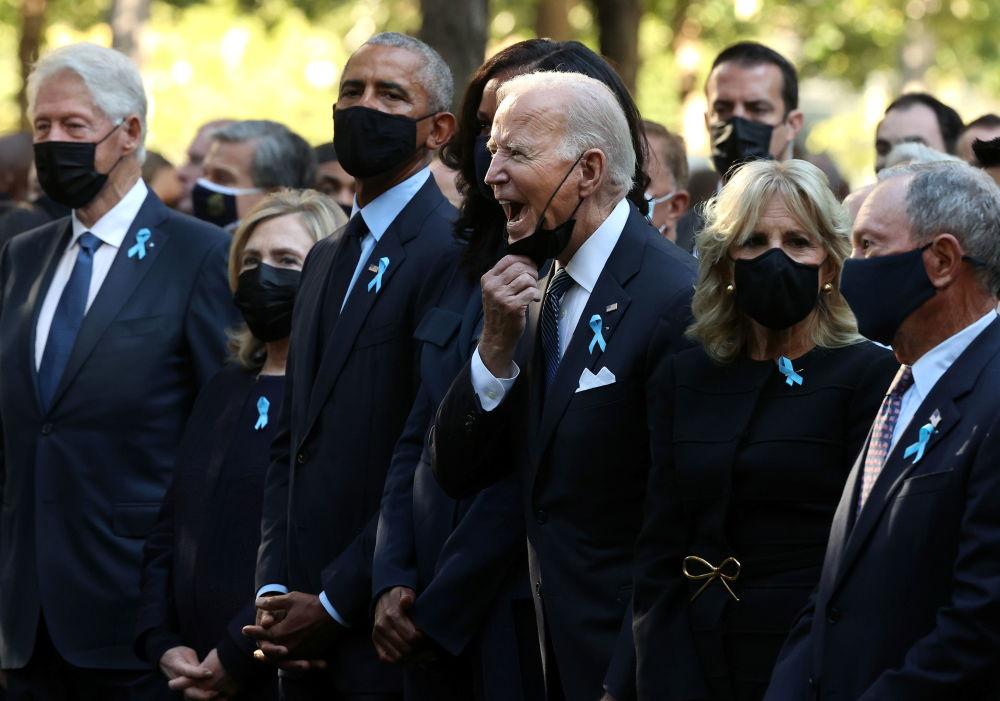 جو بایدن رئیس جمهور آمریکا در مراسم یادبود ۱۱ سپتامبر در نیویورک