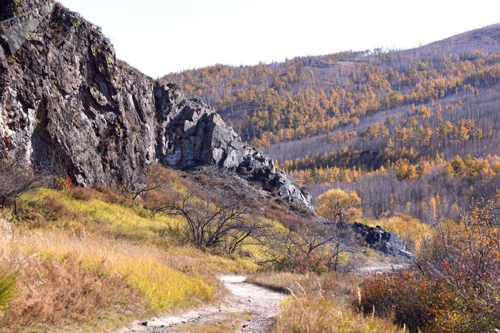 منظره پاییز در زابایکال روسیه