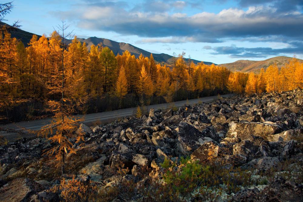 غروب پاییزی در استان ماگادان روسیه