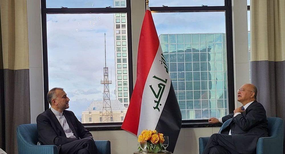 رایزنی وزیر خارجه ایران  با رییس جمهور عراق