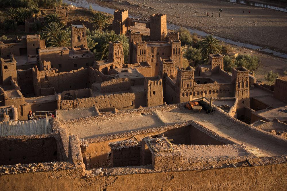 نمایی از قلعه باستانی در مراکش