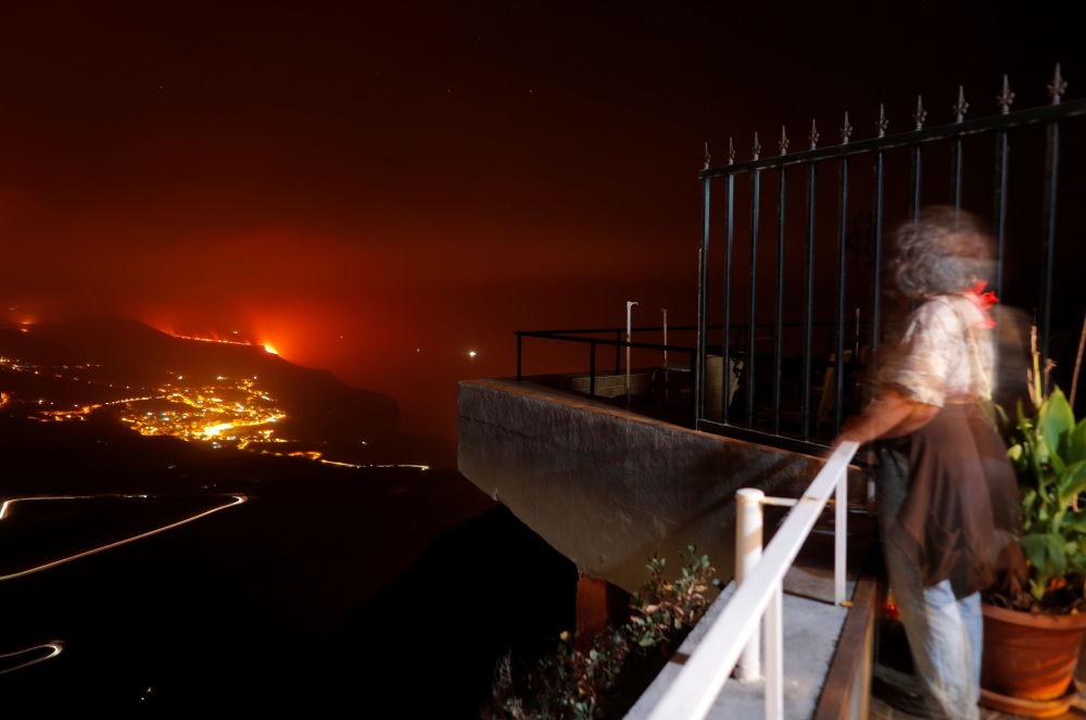 آتشفشان در جزیره لاپالما