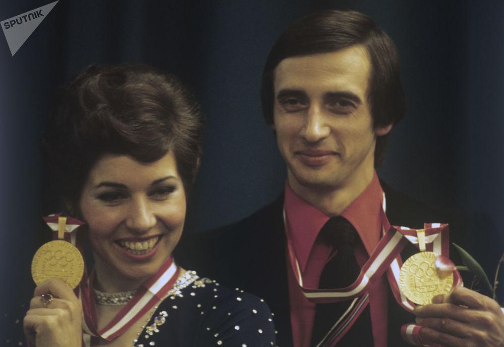 لیودمیلا پاخاموا و الکساندر گورشکوف در بازی های المپیک